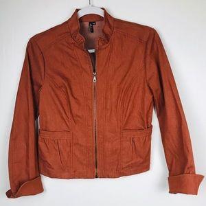 Ambition Burnt Orange Jacket pockets Petite Small